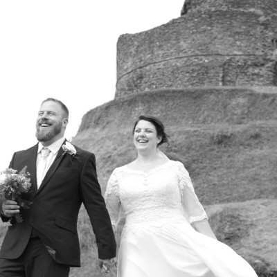 Launceston Castle, Town Hall, Cornwall. Flowers by Donna Cornish. Dress from Lowen Bridal. Eagle House Hotel. August.