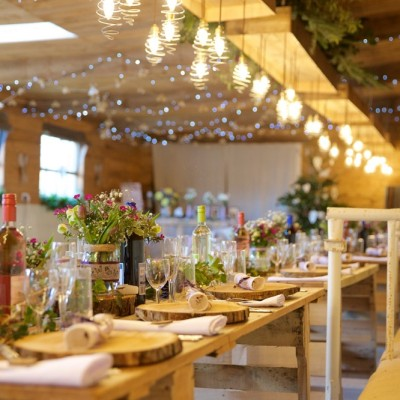 The Cow Shed, Milking Parlour, Millbrook, Cornwall. Flowers by Wild At Heart Country Flowers. December.