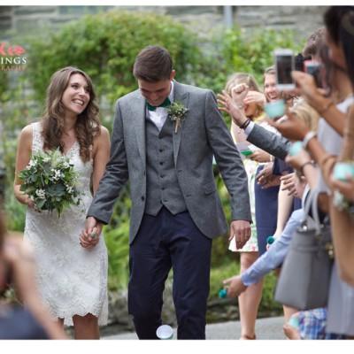 Ta Mill Wedding Venue, Launceston, Cornwall. Flowers by Flower Scene. July.