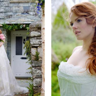 Ta Mill Wedding Venue, Launceston, Cornwall. Dresses by Ian Stuart, Fantasia Bridal. Flowers by Floral Creations, St. Austell. April.