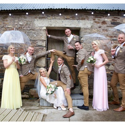 The Green Weddings Cornwall. Liskeard. Flowers by Donna Cornish. MUA Abi Scott.  May.
