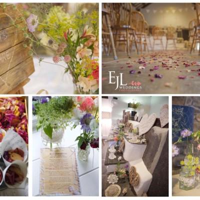 Trevigue Clifftop Venue, Crackington Haven, North Cornwall. St. Mellion Flowers. July.