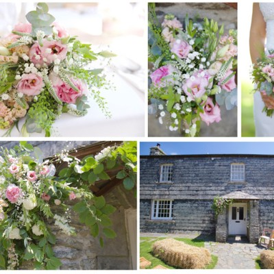 Ta Mill Wedding Venue, Launceston, Cornwall. Flowers by Flower Scene. May.