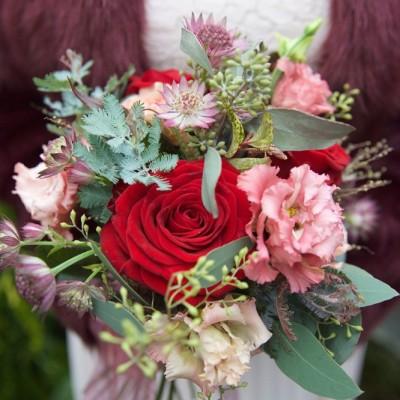 Ta Mill Wedding Venue, Launceston, Cornwall.  Flowers by Flower Scene. November.
