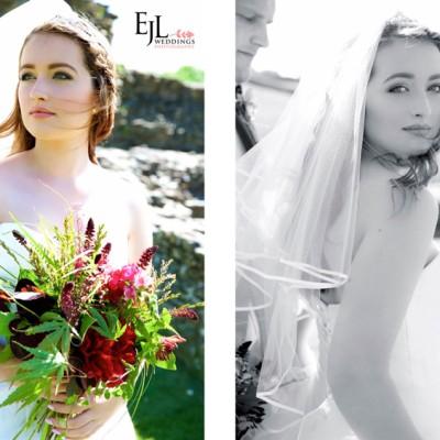 Launceston Town Hall, Launceston Castle, Cornwall. MUA Abi Scott, Dress and accessories Lowen Bridal, Flowers by Flower Scene, Hair by Hush. June.