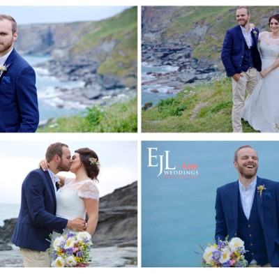 The Millhouse, Trebarwith Strand, North Cornwall. Flowers by Phillip Corps. June.