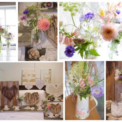 Trevigue Clifftop Venue, Crackington Haven, North Cornwall. St Mellion flowers. July.