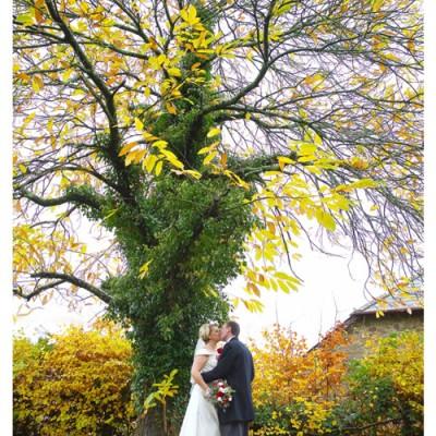 North Petherwin Church, Launceston, Cornwall. Dress from Lowen Brial, Flowers by Flower Scene, suit from David Parish Menswear. November.