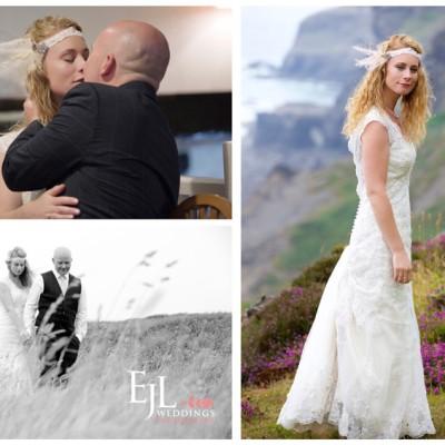 Trevigue Clifftop Wedding Venue, Crackington Haven, North Cornwall. July.