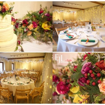 Ta Mill Wedding Venue. Flowers by Flower Scene. December.