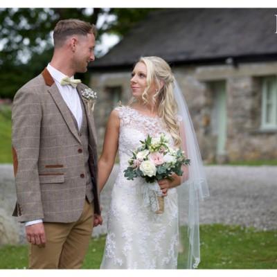 The Green Weddings Cornwall. Liskeard. Flowers by Donna Cornish, MUA Abi Scott, Hair, Vicky Endacott. May.