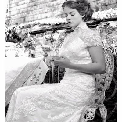 Ta Mill Wedding Venue, Launceston, Cornwall. Dress from Coastal Bridal, Hair by Avril at Ladies & Gentlemen, Pippa's vintage.  October.