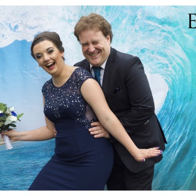Ta Mill Wedding Venue, Launceston, Cornwall. Bride & Groom's own backdrop.  September.