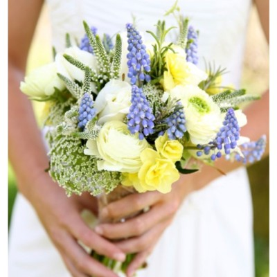 Ta Mill Wedding Venue, Launceston, Cornwall. Flowers by Flower Scene, Dress from Lowen Bridal.  April.