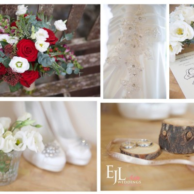 North Petherwin Church, Cornwall. Flowers by Flower Scene, dress from Lowen Bridal. November.